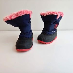 Youth girls 6 Kamik winter boots fur lined blue